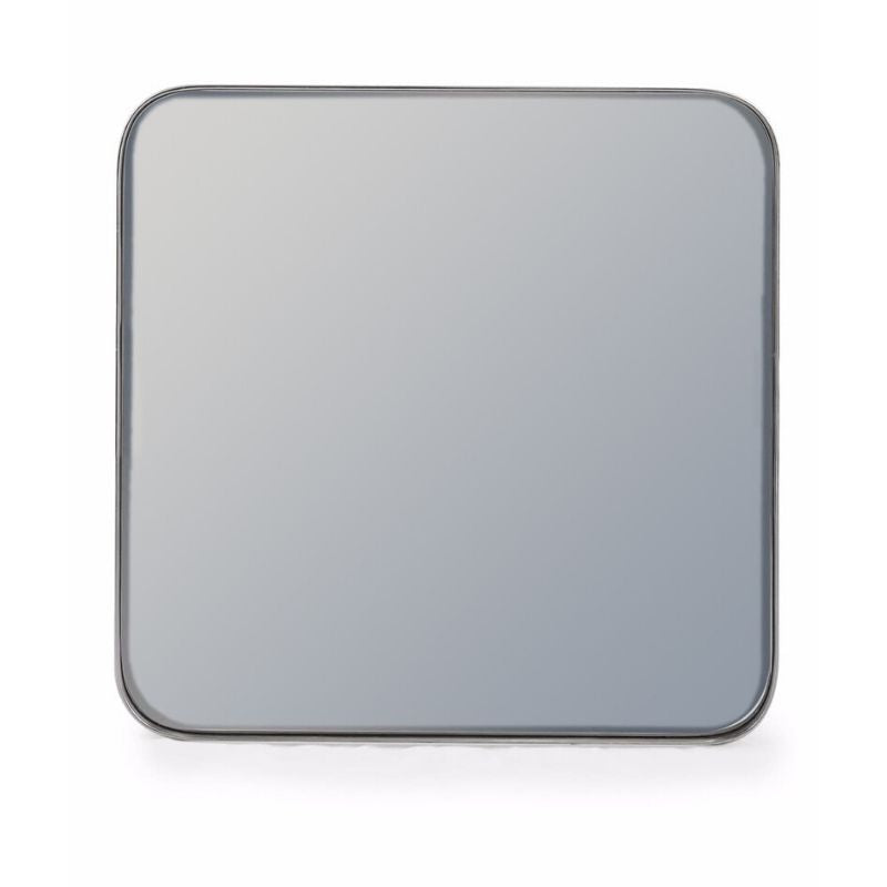 Silver Edged Square Mirror