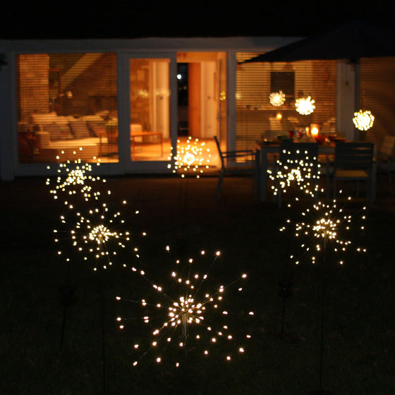 Solar Starburst Outdoor Garden Stake Light
