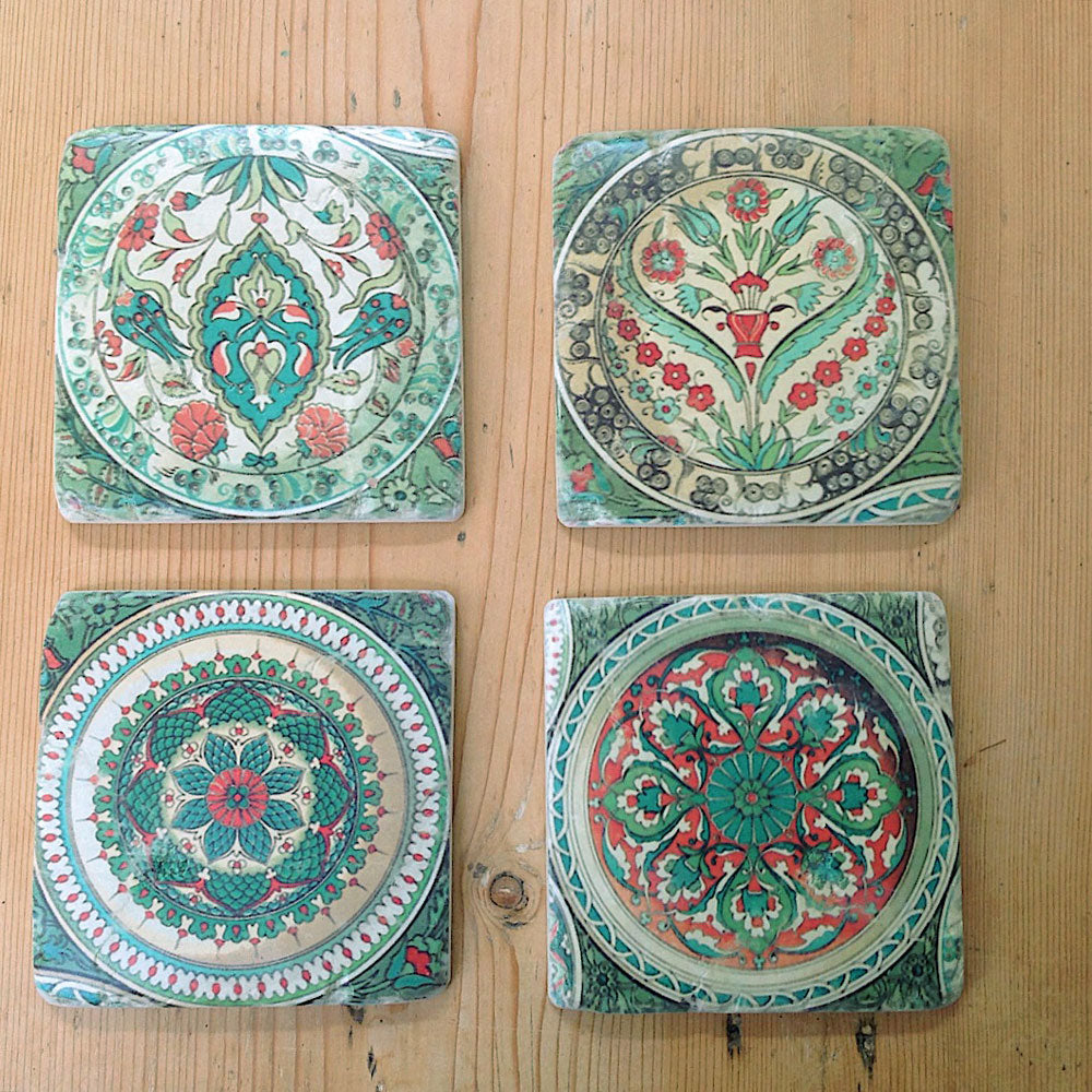 decorative tile coasters