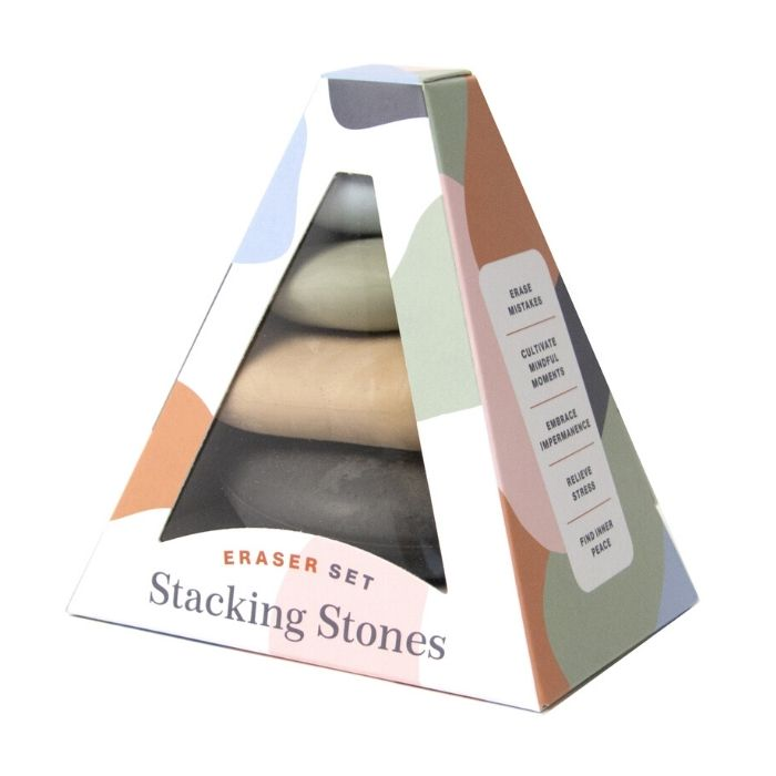 Stacking Stones Erasers