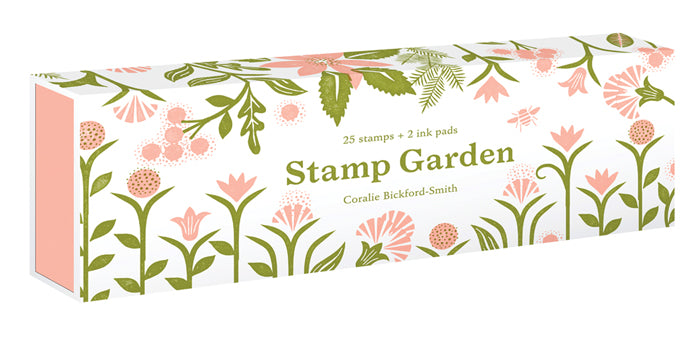 Set of garden inspired stamps