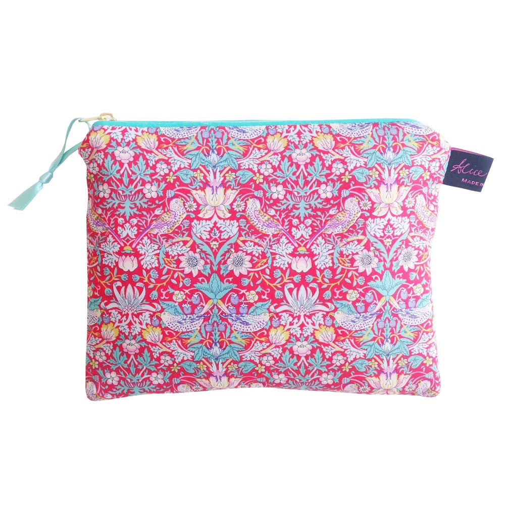Liberty Travel Pouch- Strawberry Thief