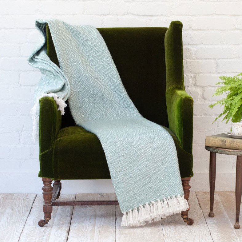 Diamond Blanket / Throw - Teal