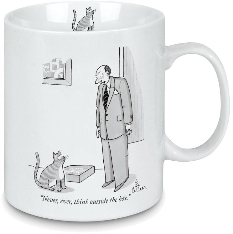 New Yorker-Porcelain mug Outside the box Mug