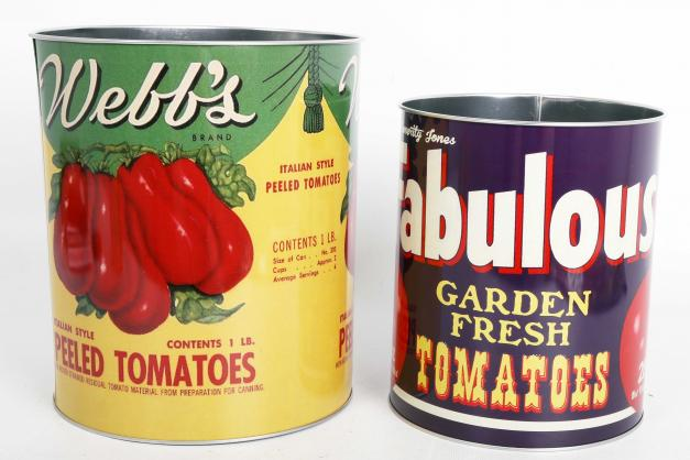 Tomato tins-set of 2 storage tins