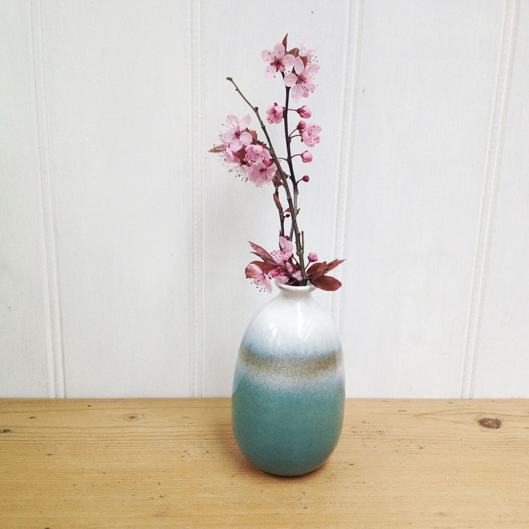 Turquoise Ombre bud vase