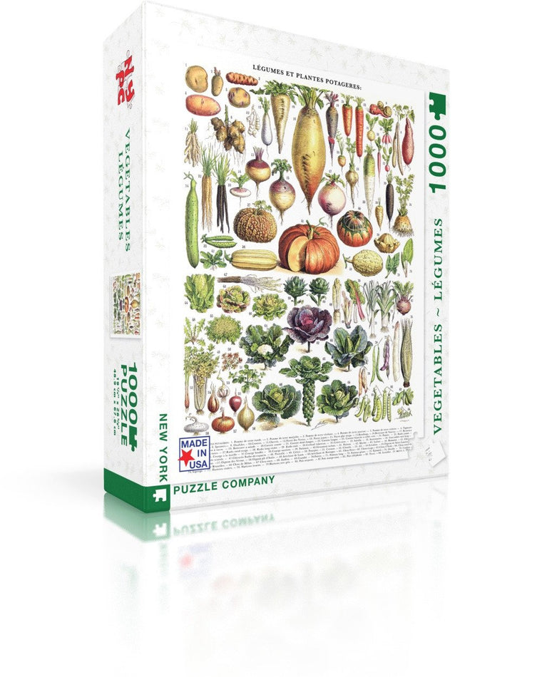 Vegetables 1000 piece jigsaw puzzle | Rd Hen Trading