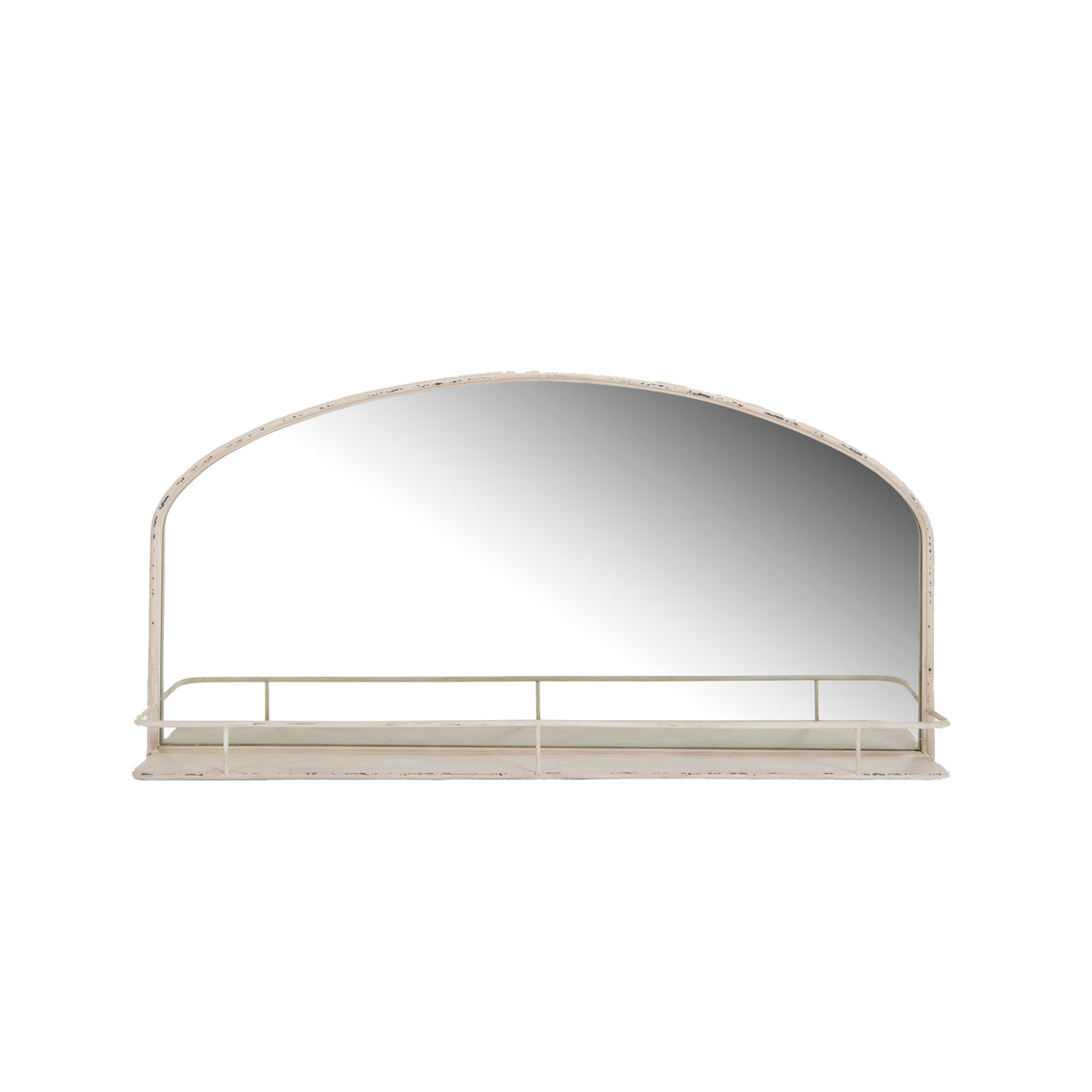 French Style Arched Wall Mirror with shelf