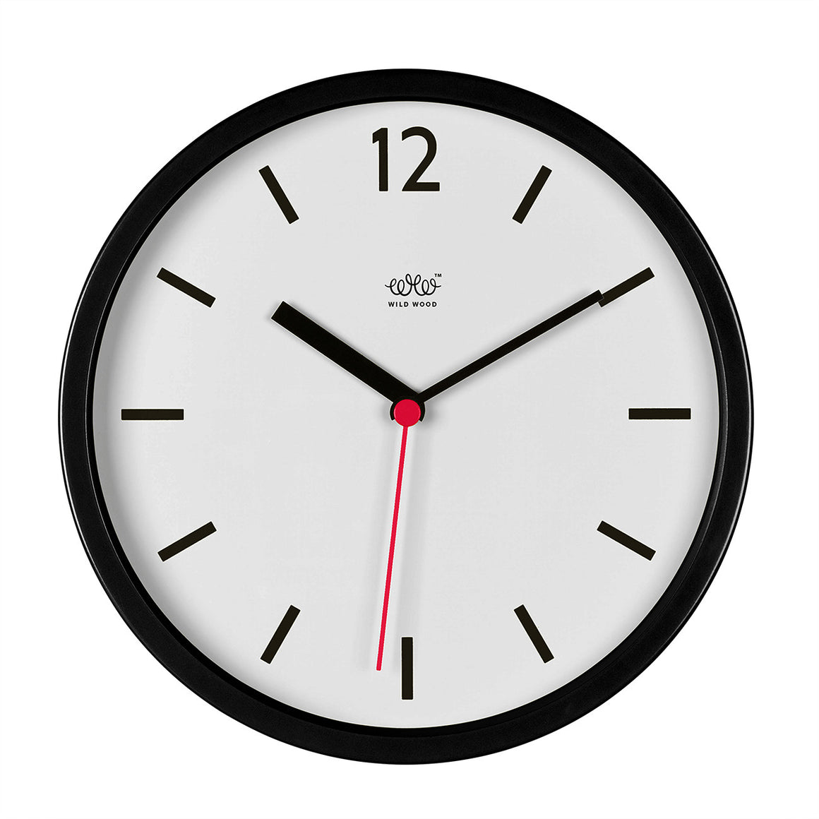 Retro Wall Clock Black and White