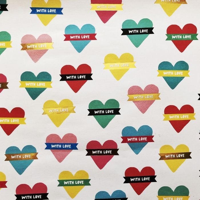 With Love Wrapping Paper