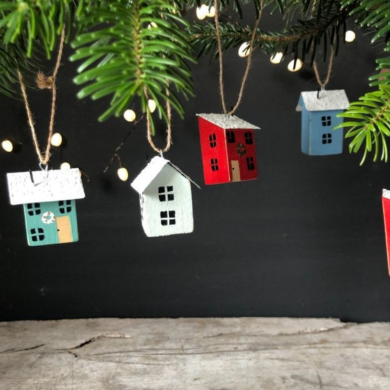Two little wooden Christmas Houses
