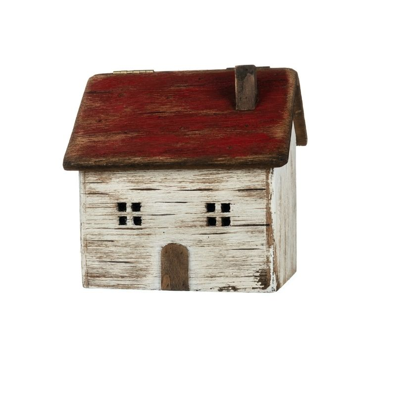 Wooden House Storage Box