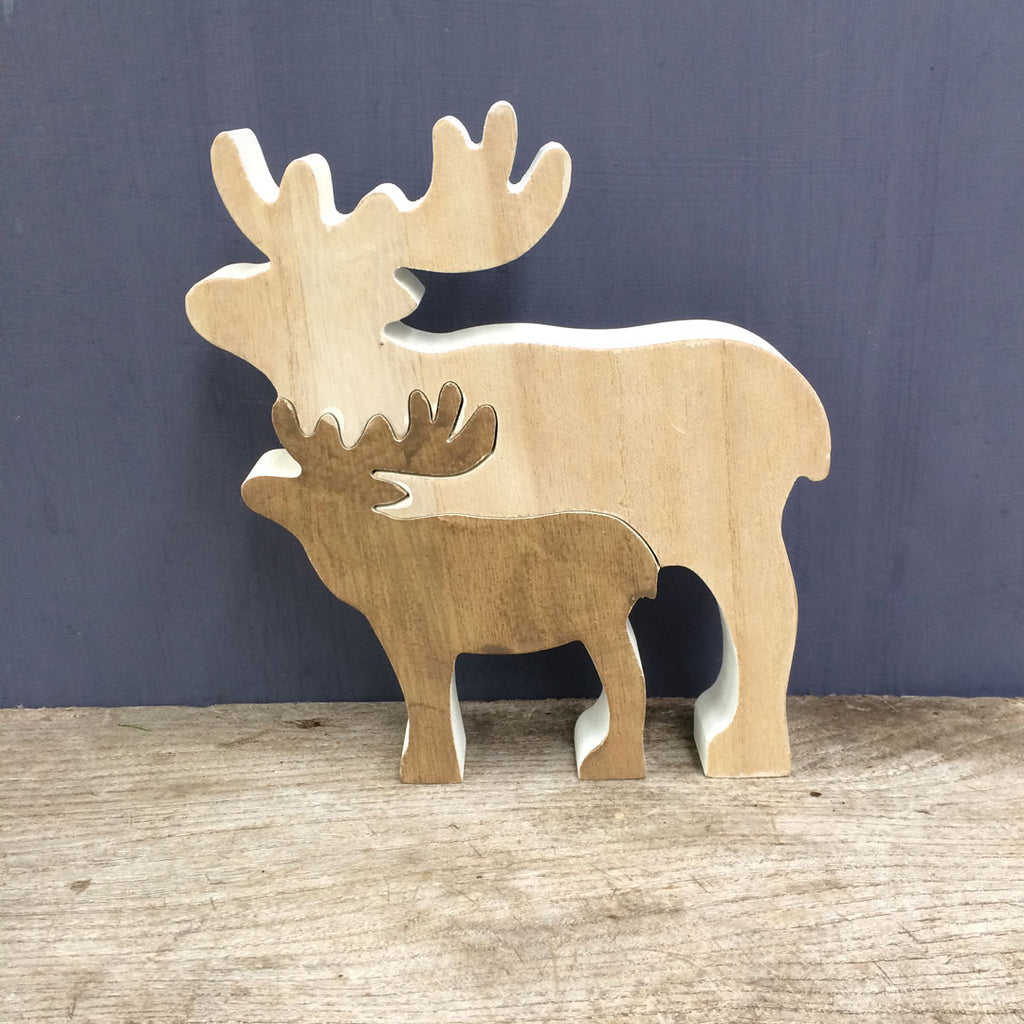 Wooden Deer Christmas decoration