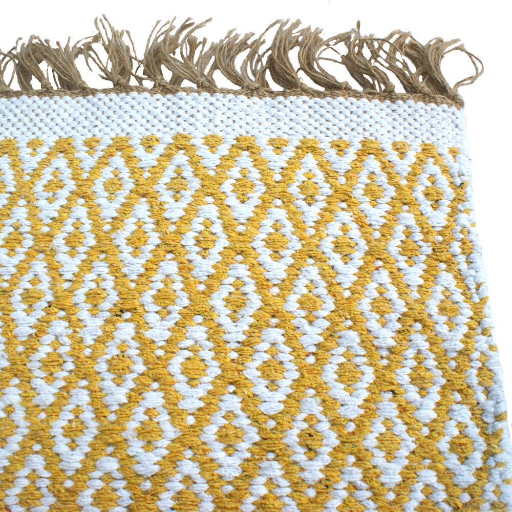Diamond Rug-Yellow/Gold