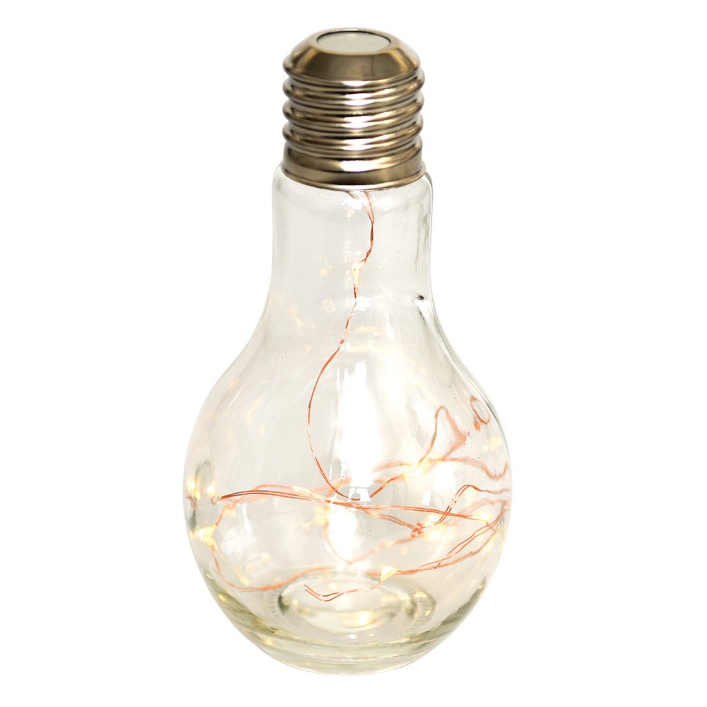 Novelty light bulb light-battery operated