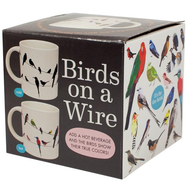 Birds on a Wire colour changing mug