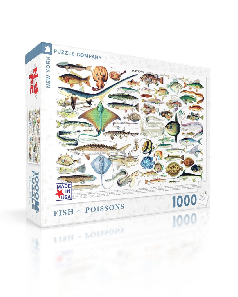 Fish ~ Poissons Jigsaw Puzzle - 1000pc