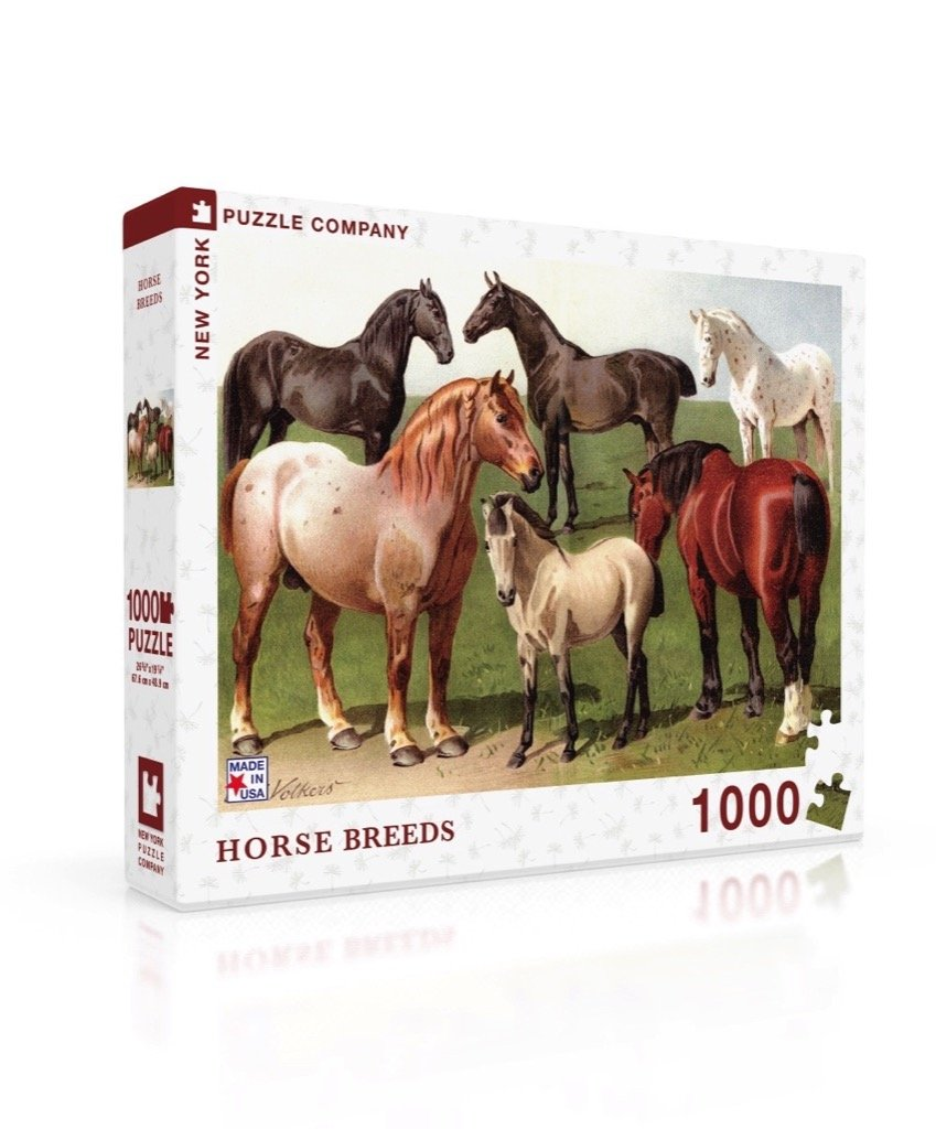 Horse Breeds jigsaw puzzle - Red Hen Trading