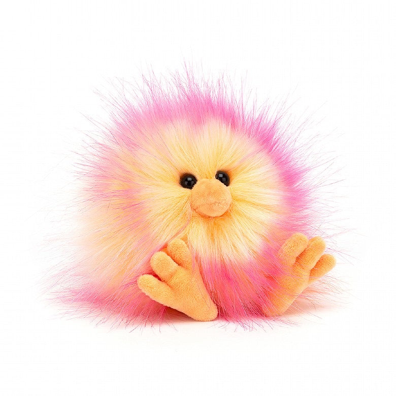 Yellow & Pink Crazy Chick Soft Toy by Jellycat