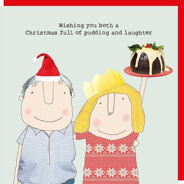 Christmas card -Full of Pudding and Laughter