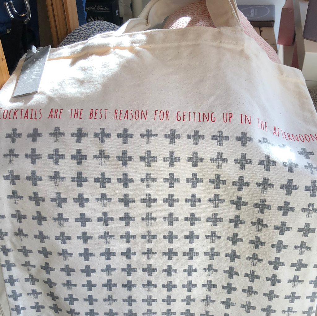 Cotton Tote bag - east of india- cocktails