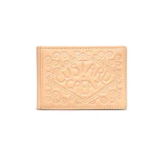 Custard cream biscuit travel pass holder