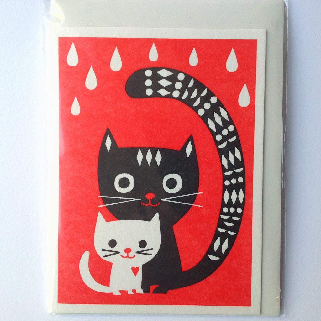 Cats letterpress card