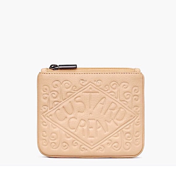 Custard Cream Leather Purse