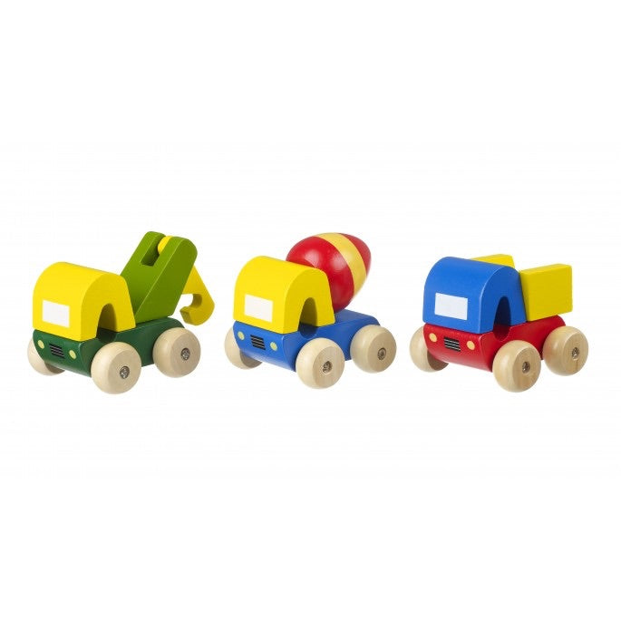 Wooden play trucks