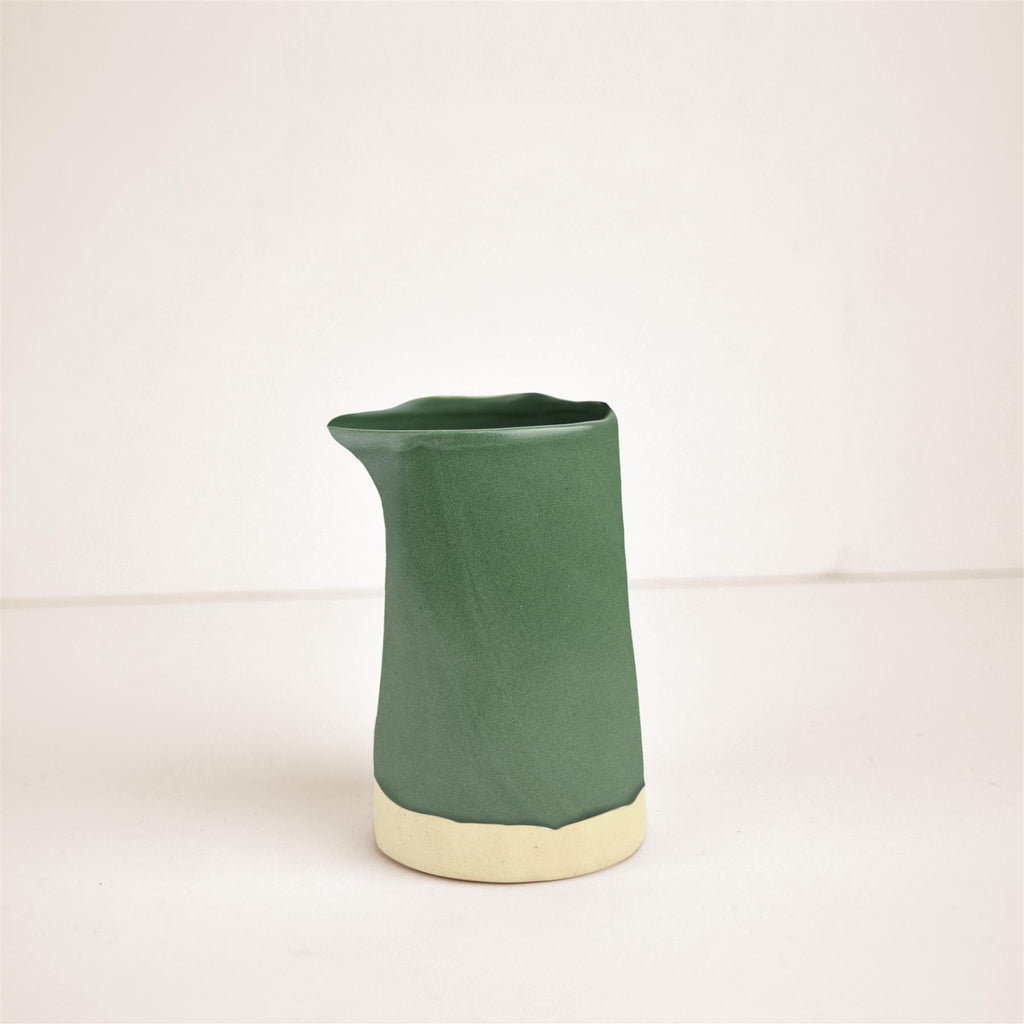 Hand Made Carafe-Courgette Green
