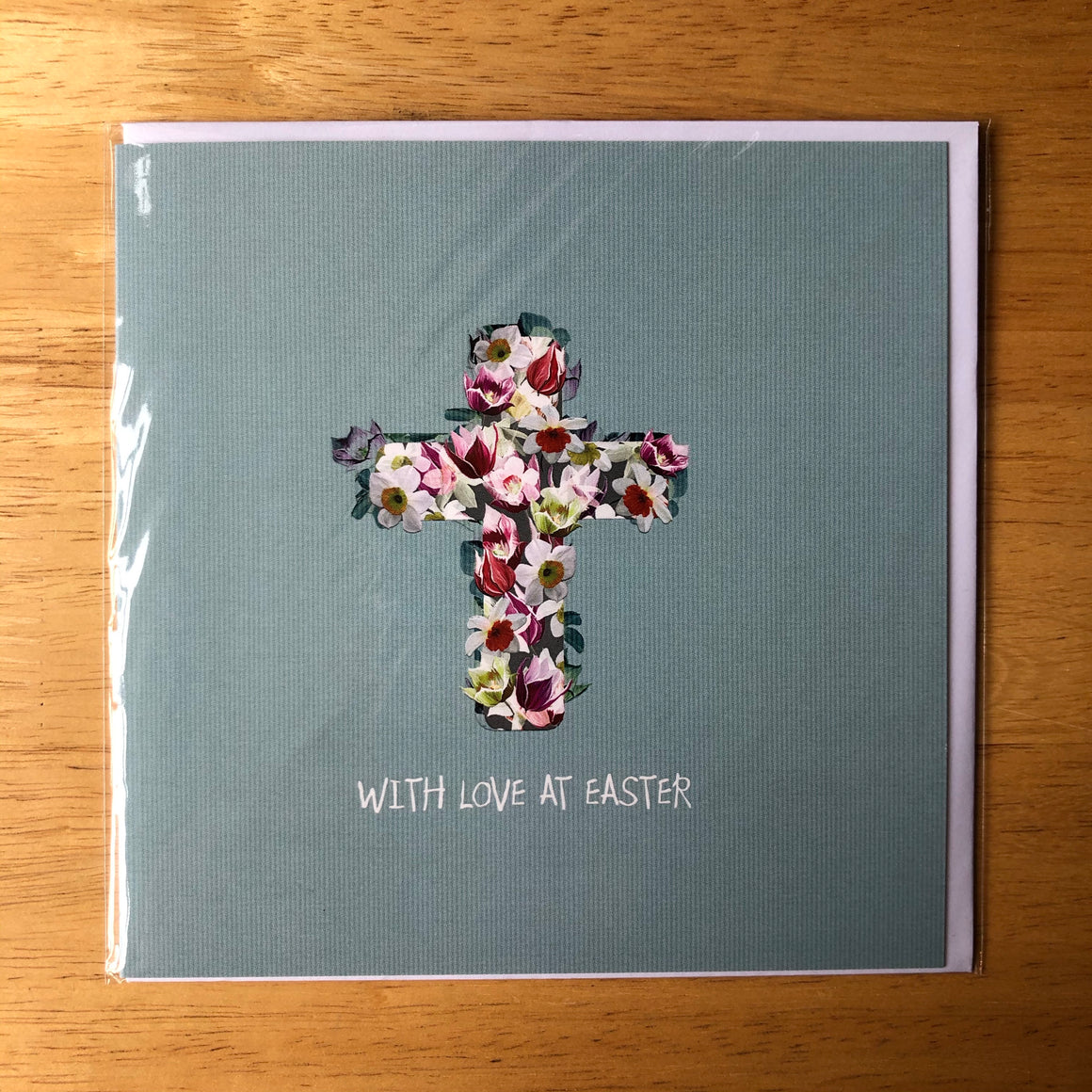 With Love at Easter - Floral Cross Card