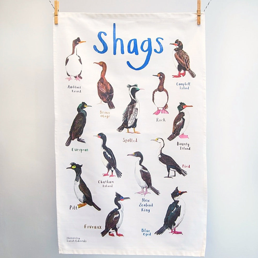 Birds Tea Towel - Shags