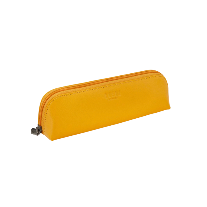 Pencil Case- Slim leather Yellow