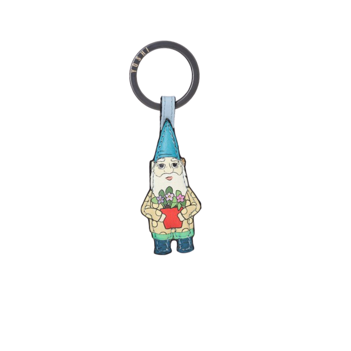 Gnome leather keyring
