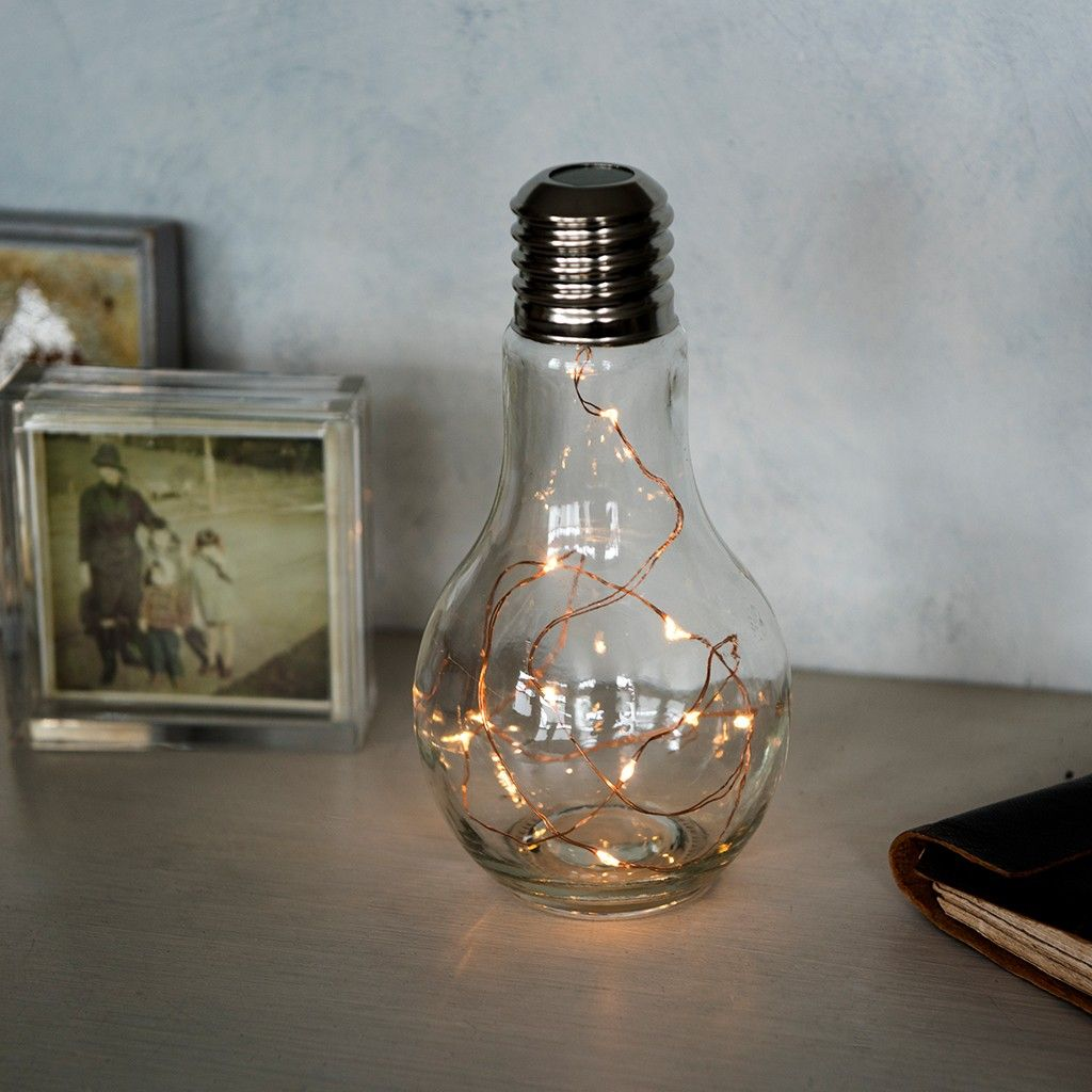 Decorative Light bulb lamp from Red Hen Trading