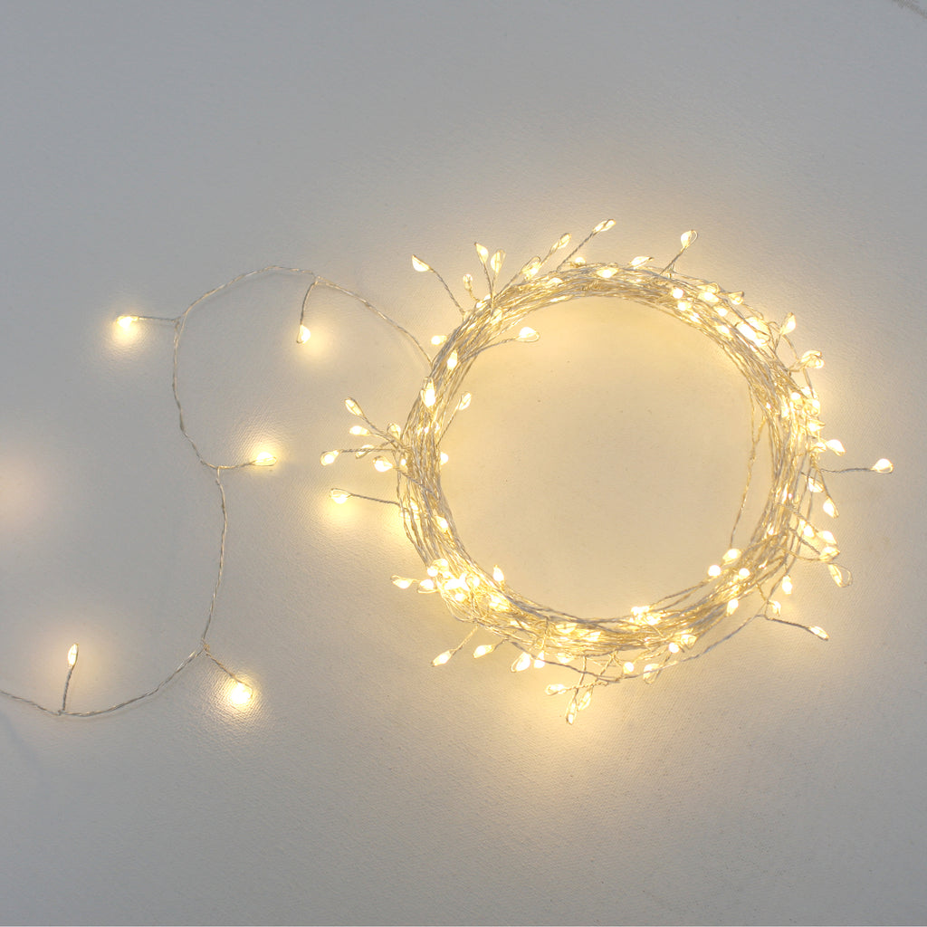 Silver String Cluster Lights -15m