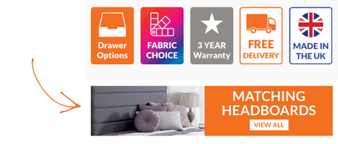 It's easy to find a matching headboard at Divan Base Direct