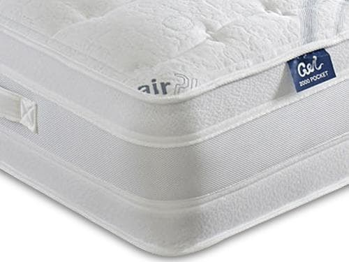 Dura Beds Air Plus Gel 1000 Pocket Sprung Gel Foam Mattress