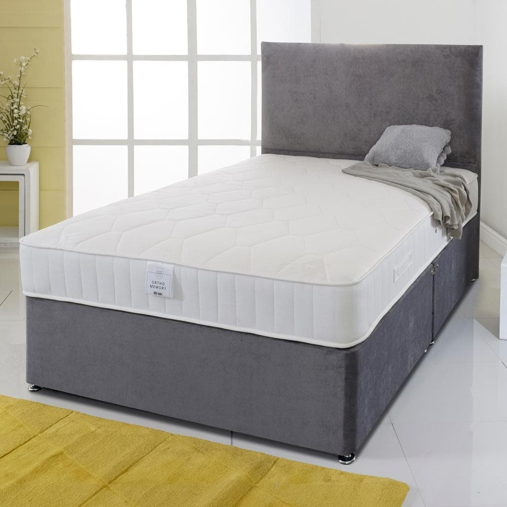 Shire Essentials Orthopaedic Sprung Memory Foam Divan Bed Set