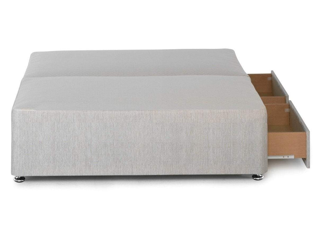 Sprung edge divan base available in single double and for Divan base no mattress