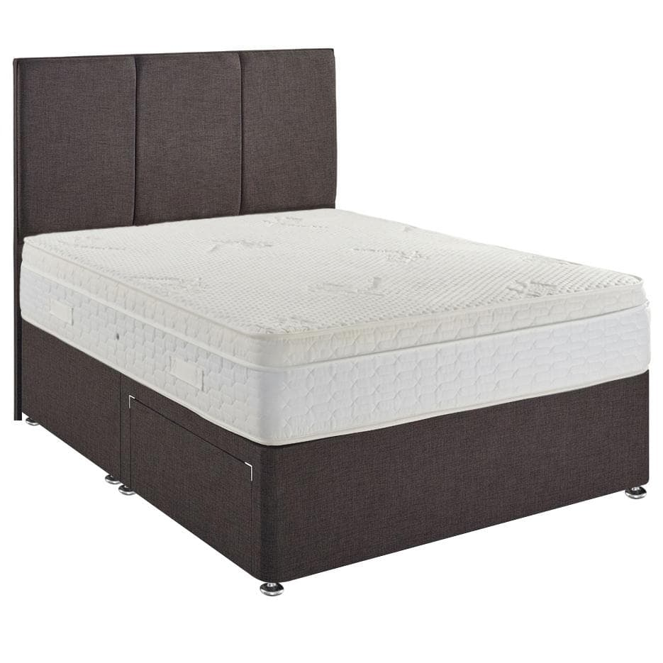 Ambient 1500 Pocket Sprung Memory Foam Cushioned Top Divan Bed Set