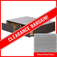 2'6 Small Single Signature Platform Top Divan Base in House Steel Grey