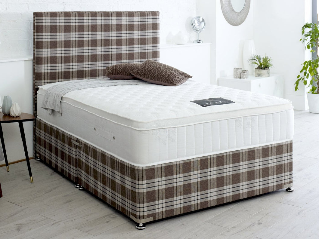 Slumber Dream Crown Attached Top 1000 Pocket Sprung Natural Latex Divan Bed Set