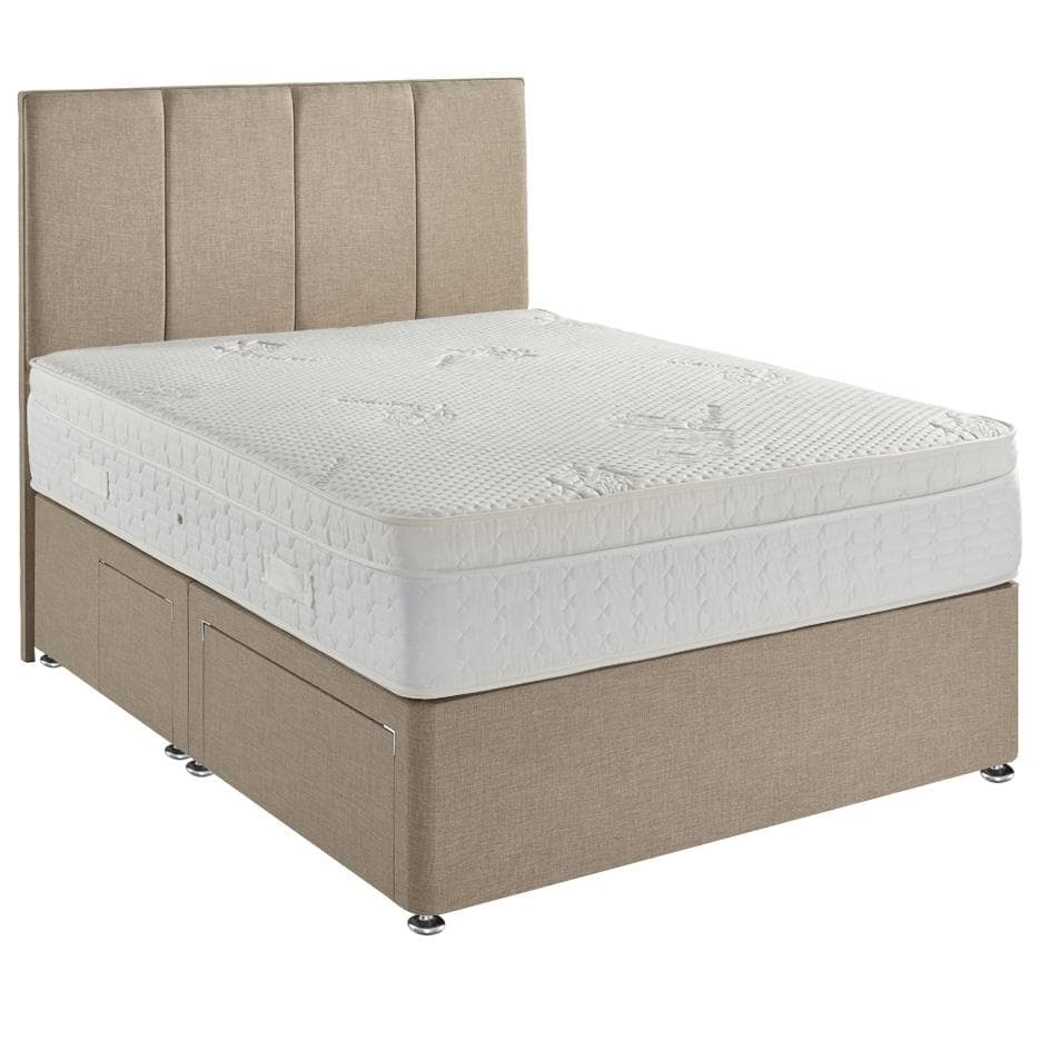 Dream Latex 2000 Pocket Sprung Cushioned Top Divan Bed Set