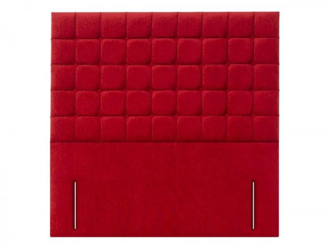 Prague Floor Standing Fabric or Leather Upholstered Headboard - 1