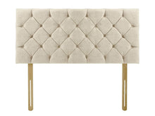 4'6 Double Dreamland Premier Manhattan Strutted Upholstered Headboard in Titanium Wool