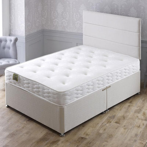 Marathon Divan Bed Set with Memory Foam Sprung Medium Comfort Mattress