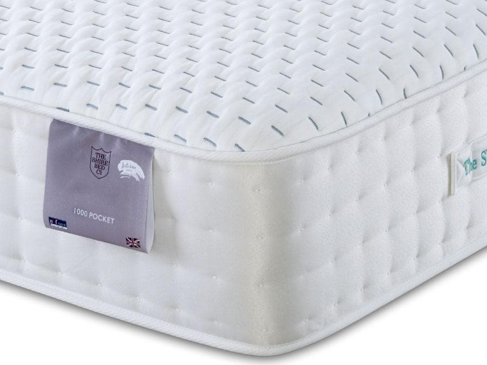 Shire Wenlock 1000 Pocket Sprung Latex Natural Fillings Mattress