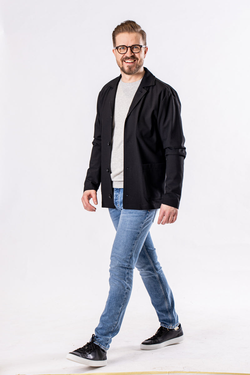 Ma  Nohr Utility Jacket Soft Solid Black
