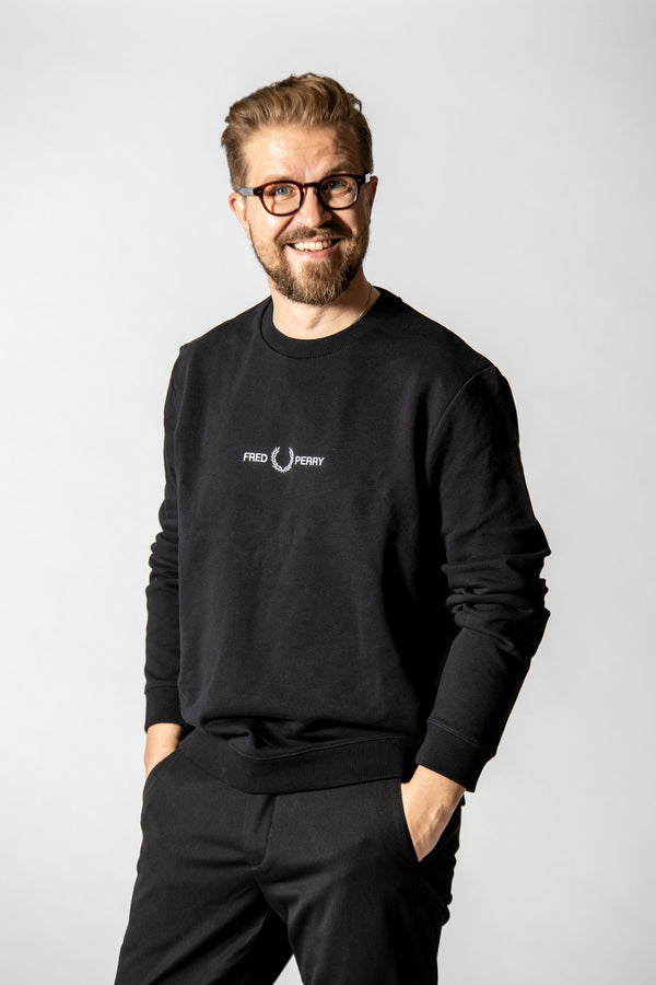 Fred Perry Graphic Sweatshirt Black